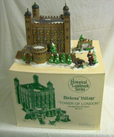 3226: DEPT 56; DICKENS VILLAGE; *TOWER OF LONDON*, SET/