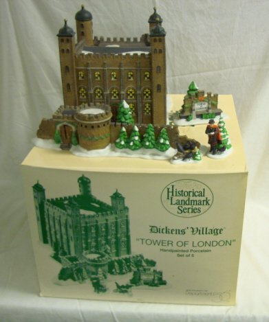 3226: DEPT 56; DICKENS VILLAGE; *TOWER OF LONDON*, SET/