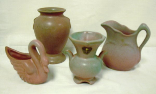 2007: 4 SMALL PIECES OF NILOAK ART POTTERY; ALL ARE SIG