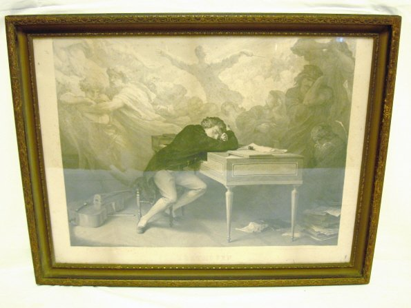 2008: PRINT OF BEETHOVEN; IMAGE W/SIGNED BORDER IS 23 1