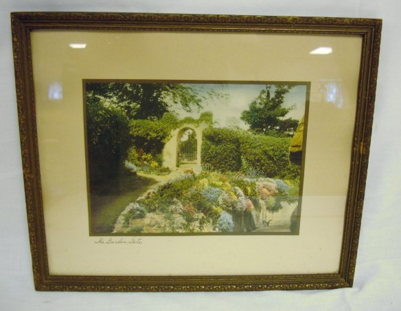 2009: NUTTING TYPE HAND COLORED PHOTO PRINT, *THE GARDE
