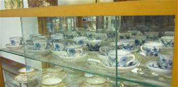 2003A: 15 BLUE & WHITE MEISSEN TYPE DEMITASSE CUPS & SA