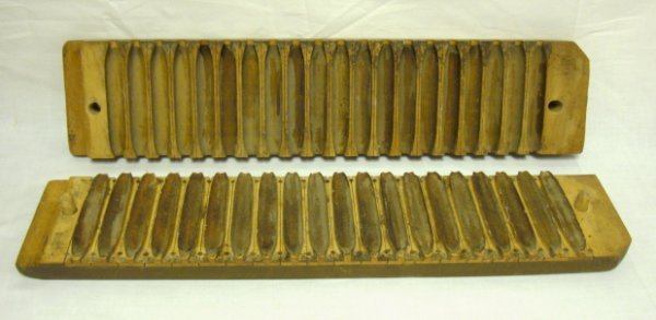 6: WOODEN CIGAR MOLD; 22 IN X 4 3/4 IN, 2 1/2 IN THICK