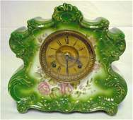 249 ANSONIA CHINA CASE CLOCK PORCELAIN DRESDEN EXTRA