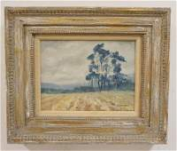 OIL PAINTING ON CANVAS LANDSCAPE IRISH PINES SIGNED
