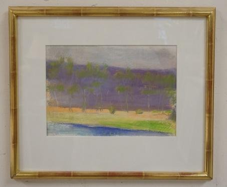 WOLF KAHN SIGNED PASTEL ON PAPER