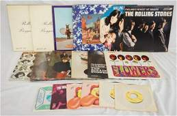 LOT OF 13 ROLLING STONES ALBUMS  6 45S