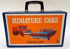 VINTAGE MATCH BOX CASE WITH CARS