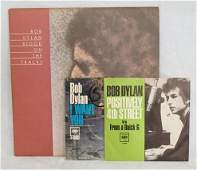 ORIGINAL BOB DYLAN BLOOD ON THE TRACKS ALBUM & 2 45S