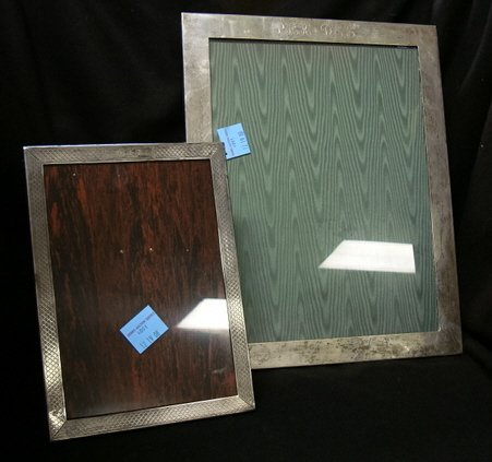 4001: TWO STERLING SILVER PICTURE FRAMES