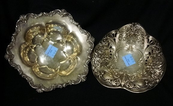 4008: TWO SERVING BOWLS, GORHAM & WALLACE; 12 TROY OZ