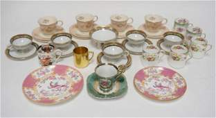 LOT OF CUPS SAUCERS INCLUDING SHELLEY ETC.