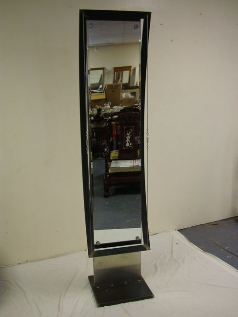 1157: INDUSTRIAL FREE STANDING MIRROR; 85 IN H