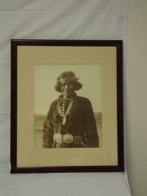 1168: FRAMED CARL MOON PHOTO OF AN INDIAN; 16 1/2 IN X