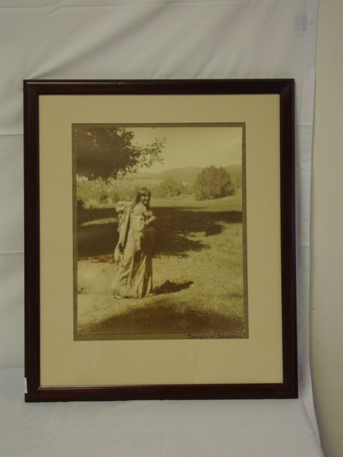 1169: FRAMED CARL MOON PHOTO OF AN INDIAN GIRL; 17 IN X