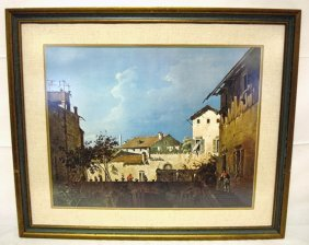 FRAMED PRINT; *THE TERRACE* BY CANALETTO; ART INS
