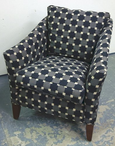 1141: ETHAN ALLEN UPHOLSTERED ARM CHAIR; 35 1/2 IN H, 3