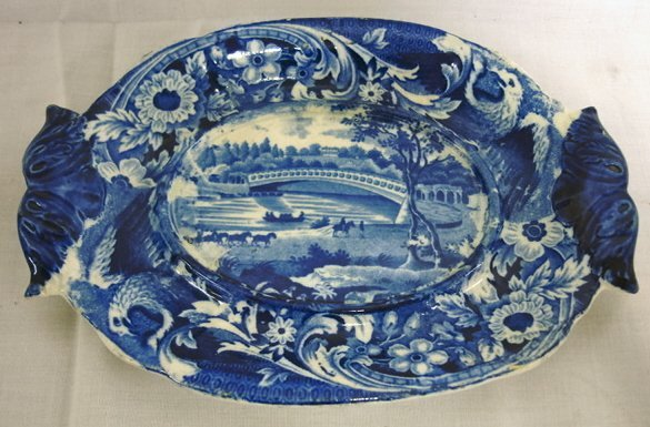 1156: HISTORICAL BLUE TRANSFER UNDERPLATE FOR A SMALL T