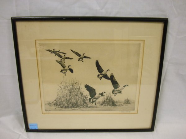 3: ORIGINAL ETCHING, TITLED *HOUKERS* BY WILLARD W. BIS