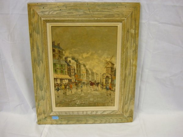 7: 20TH C. OIL ON CANVAS, PARISIAN STREET SCENE, IMPRES