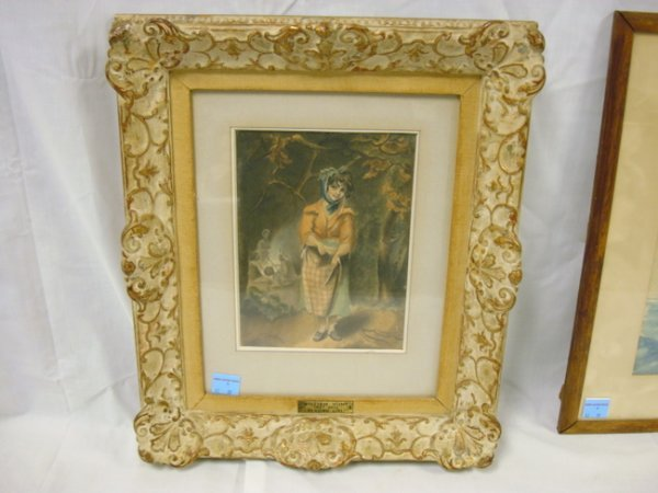 9: PRINT W/BRASS PLAQUE BY WILLIAM HUNT; TITLED *BEGGIN
