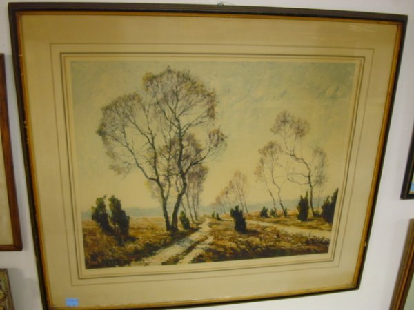 11: LG FOLIO PRINT, PENCIL SIGNED OTTO PEPPEL; LANDSCAP