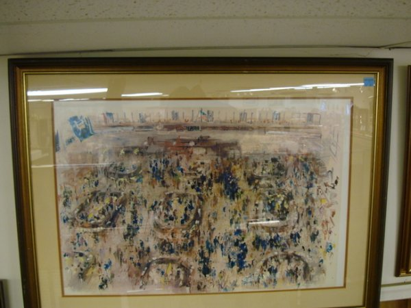16: PRINT BY LEROY NEIMAN *NY STOCK EXCHANGE*; 34 IN X