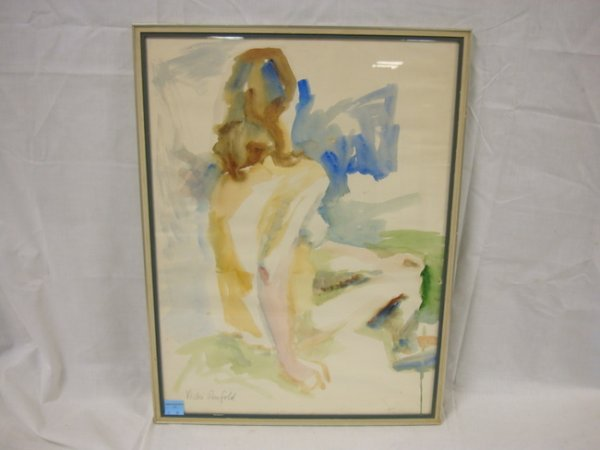 24: WATERCOLOR OF A NUDE BY VICKI DENFOLD; 17 IN X 23 I