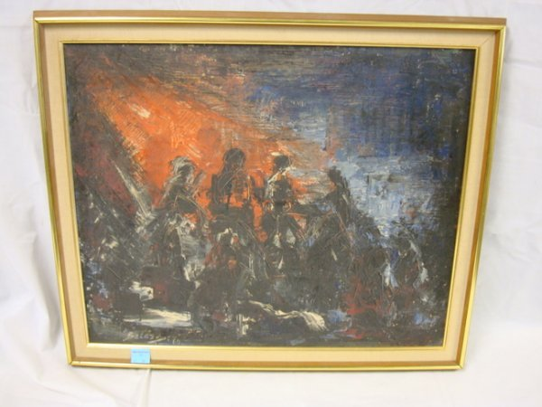 25: OIL ON CANVAS BY BALAS, 1960; 24 IN X 20 IN IMAGE