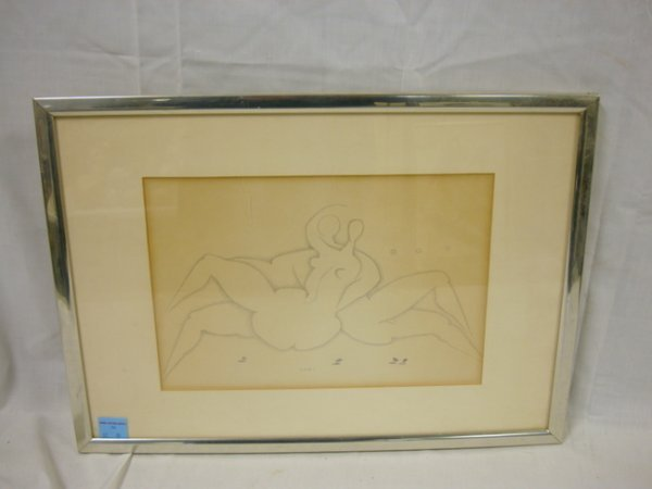 26: PENCIL DRAWING BY CUNI; NUDES; 14 IN X 10 IN IMAGE