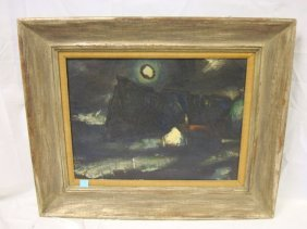 OIL ON CANVAS BY BALAS, 1960; 24 IN X 20 IN IMAGE