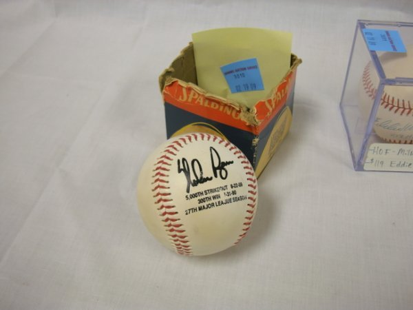 3010: SIGNED BASEBALL; *NOLAN RYAN*