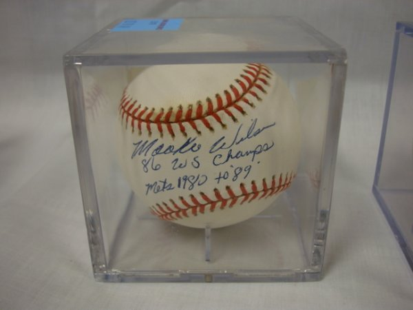 3019: SIGNED BASEBALL; *MOOKIE WILSON, '86 W.S. CHAMPS,
