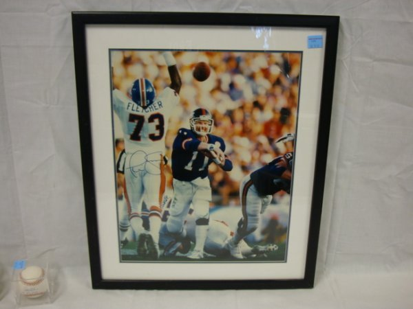 3024: SIGNED 12 IN X 16 IN COLOR PHOTO, *PHIL SIMMS*, C