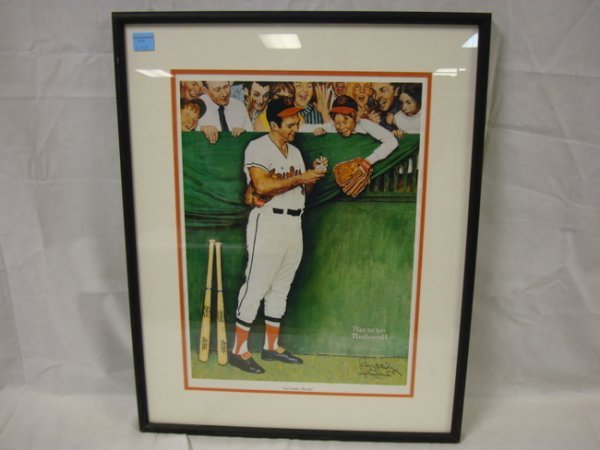 3122: HAND SIGNED BROOKS ROBINSON, NORMAN ROCKWELL PRIN
