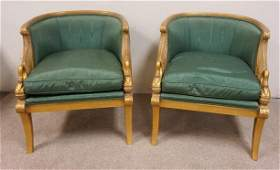 PAIR OF KARGES *EMPIRE SWAN* CHAIRS