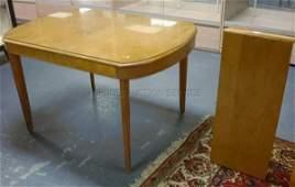1150: HEYWOOD WAKEFIELD 8 PC MAPLE DINING ROOM; TABLE (
