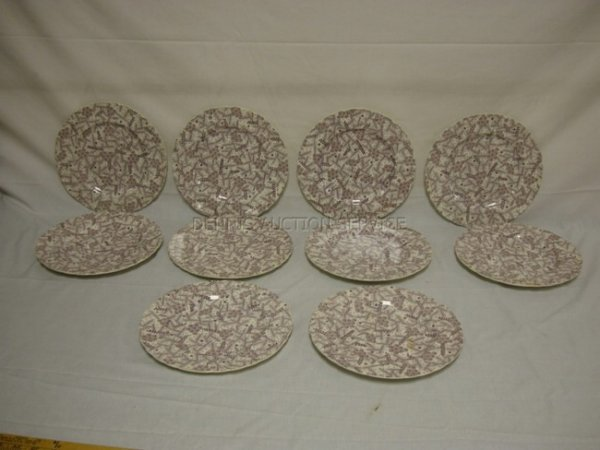 1008: SET OF 10 CLARICE CLIFF ROYAL STAFFORDSHIRE PLATE