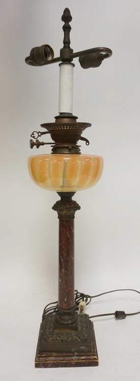 ENGLISH ELECTRIFIED BANQUET LAMP