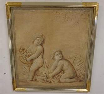 GRISAILLE PAINTING 19TH CENTURY ITALIAN