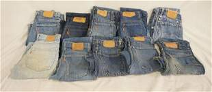 LOT OF 10 PAIRS OF VINTAGE USA MADE LEVI'S JEANS W/