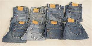 LOT OF 8 PAIRS OF VINTAGE USA MADE LEVIS JEANS