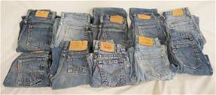 LOT OF 10 PAIRS OF VINTAGE LEVI'S JEANS W/ RED TAB