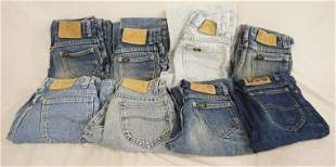 LOT OF 8 PAIRS OF VINTAGE USA MADE LEE JEANS