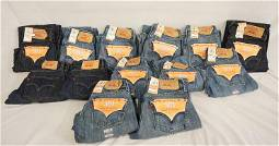 LOT OF 13 PAIRS OF LEVIS JEANS NEW W/ TAGS
