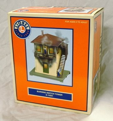 14: LIONEL #6-14201 BURNING SWITCH TOWER