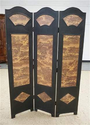 DOUBLE SIDED 3 PART FOLDING SCREEN
