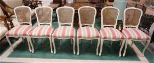 SET OF 6 FRENCH PROVINCIAL CHAIRS
