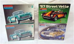 4 MONOGRAM MODEL CAR KITS
