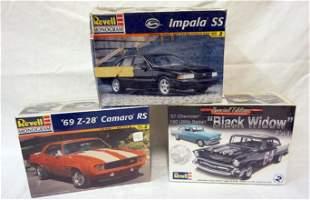 3 REVELL MONOGRAM MODEL CAR KITS